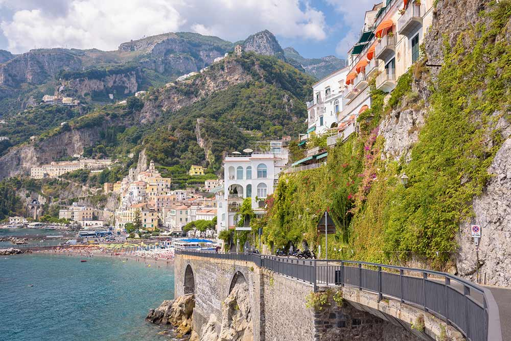 Absolute Italy - Customizing Italian Travel - Road on the cliff in Amalfi town