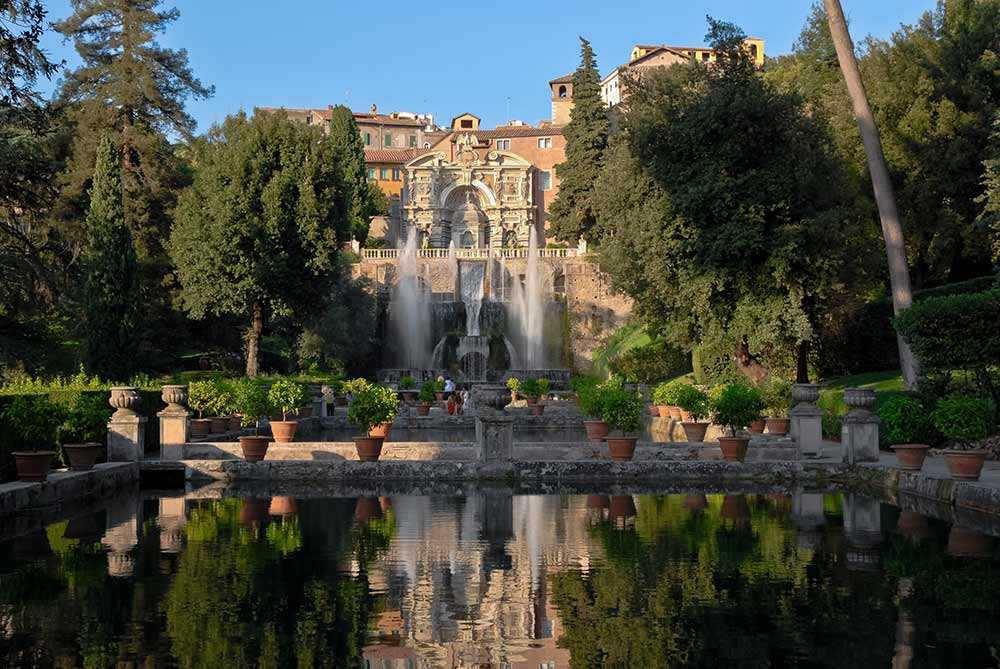 Absolute Italy - Customizing Italian Travel - View of the Villa d'Este in Tivoli